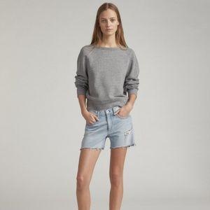 Rag & Bone Raglan Sleeve Sweatshirt Grey